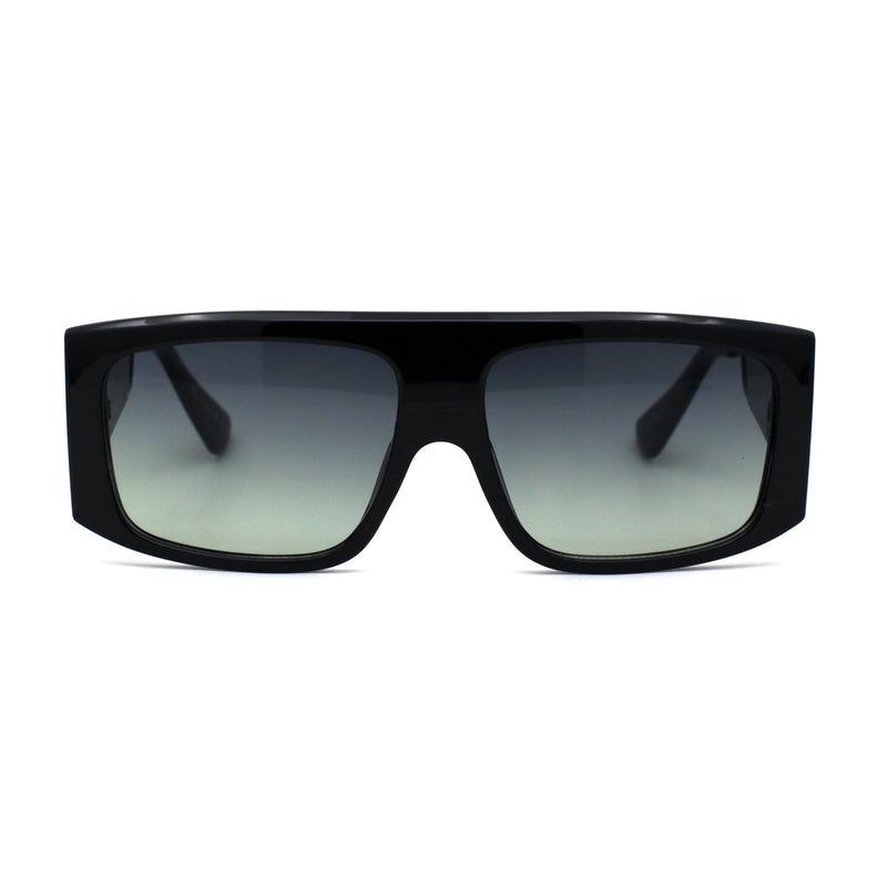 Womens Boyfriend Mob Flat Top Rectangle Plastic Fashion Sunglasses