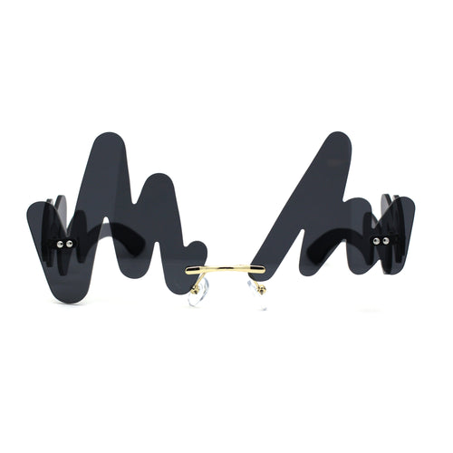 Unique Squiggly Signiture Avantgarde Retro Party Shade Sunglasses
