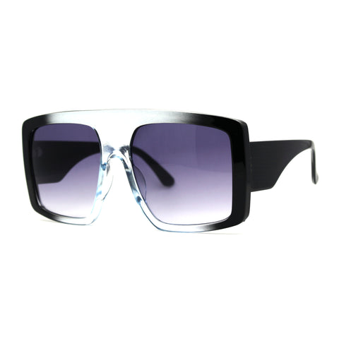 Oversize Flat Top Mobster Mafia Retro Plastic Sunglasses