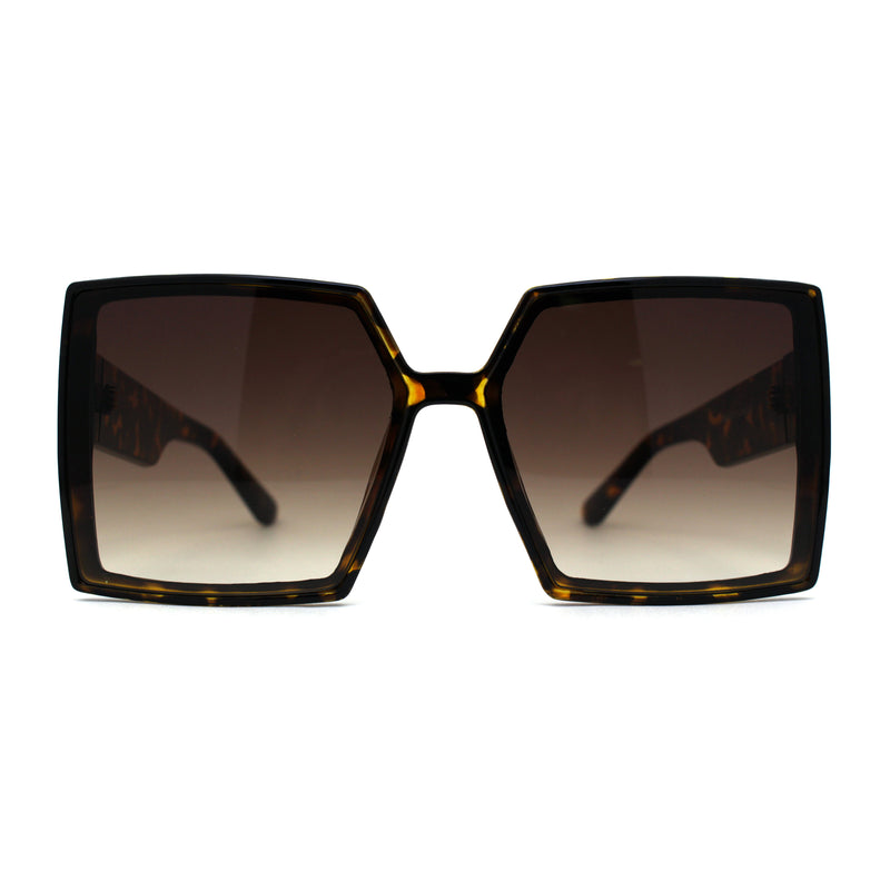 Squared Rectangular Oversize Butterfly Retro Fashion Sunglasses