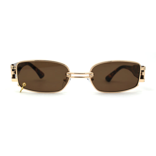 Pierced Loop Ring Lens 90s Retro Fashion Sunglasses