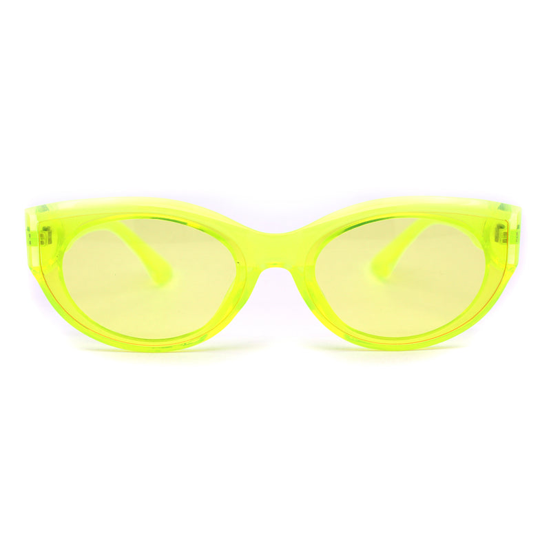 Womens Oval Mod Gothic Cat Eye Plastic Sunglasses