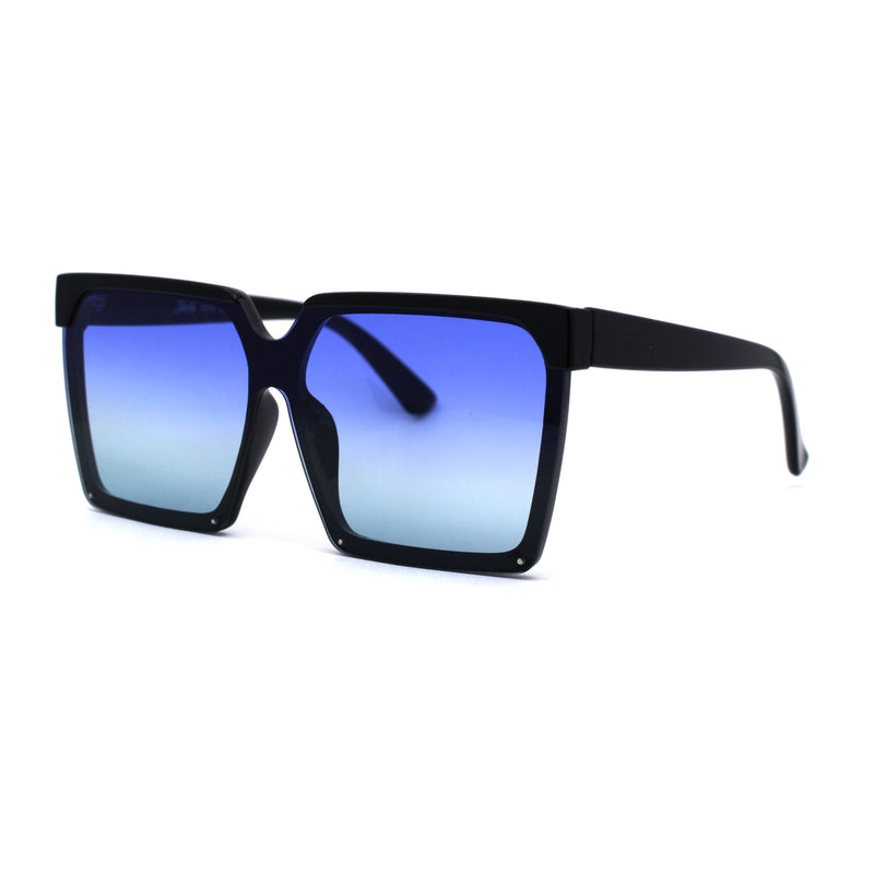 Womens Squared Rectangular Butterfly Fashion Plastic Sunglasses