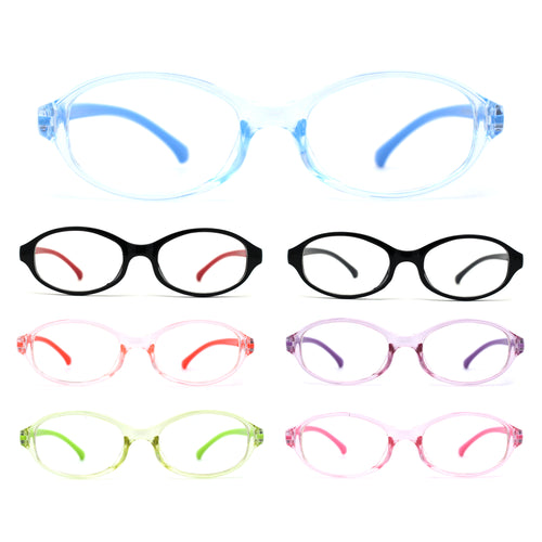 Kids Narrow Oval Plastic 100% Blue Light Flitering Computer Glasses
