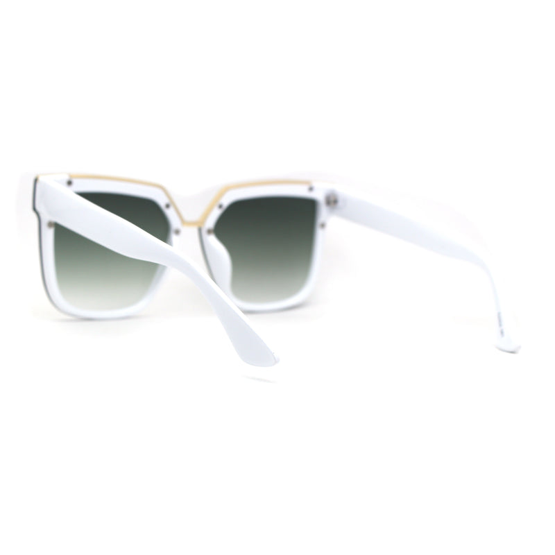 Womens Designer Squared Butterfly Chic Sunglasses
