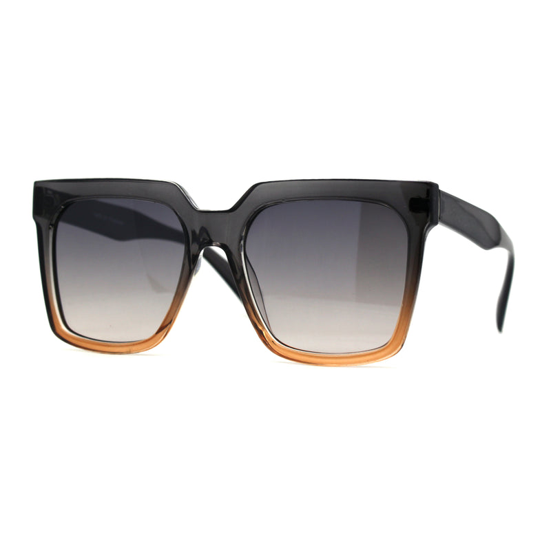 Squared Horn Rim Hipster Chic Plastic Boyfriend Rectangle Sunglasses