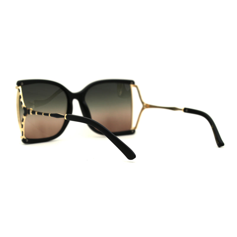 Womens Squared Butterfly 90s Chic Designer Sunglasses
