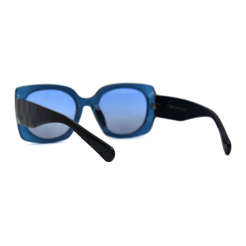 Mod Womens Thick Plastic Rectangular Retro Plastic Sunglasses
