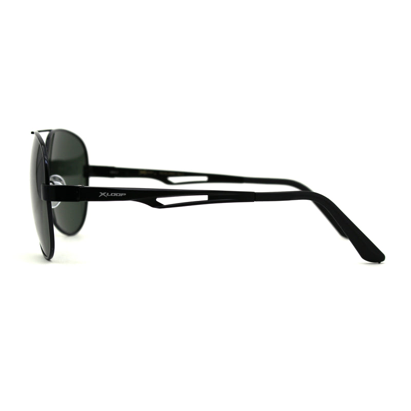 Xloop Polarized Mens Officer Style Metal Rim Air Force Pilots Sunglasses