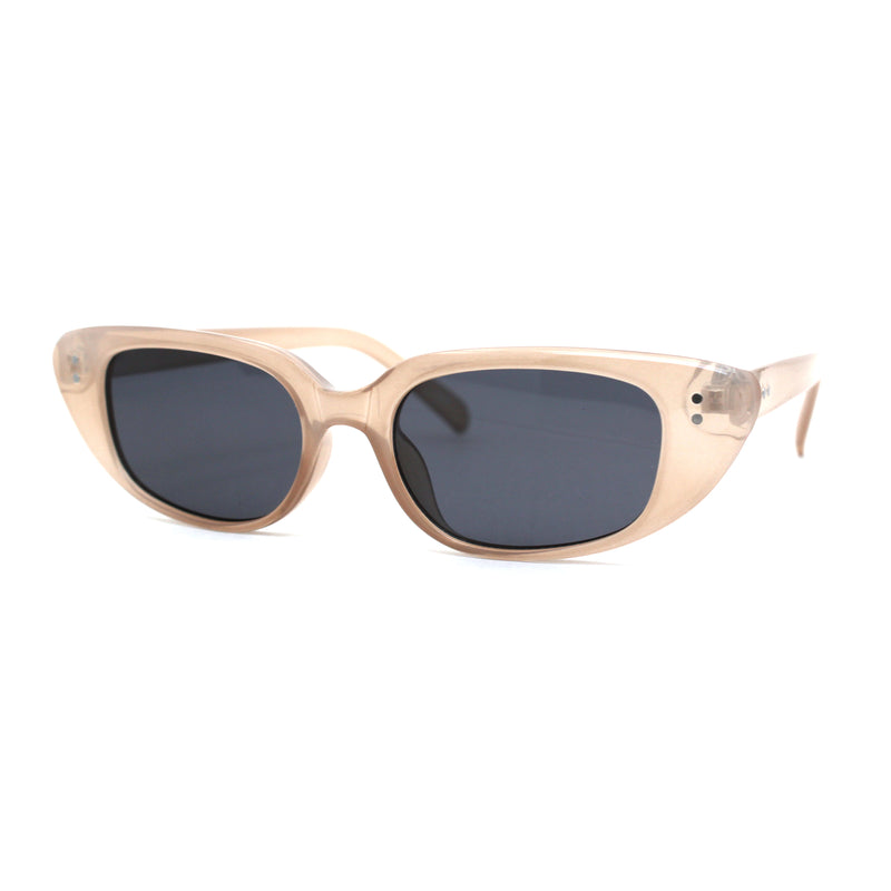 Narrow Gothic Cat Eye Retro Plastic Womens Sunglasses