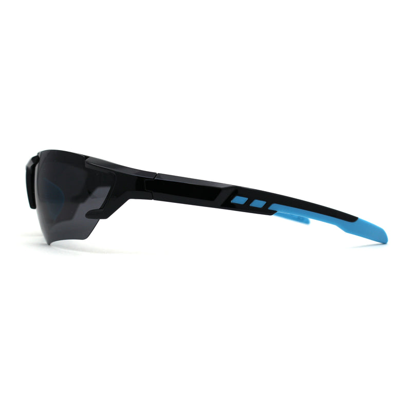 Mens Premium Polarized Lens Warp Around Aerodynamic Sport Sunglasses