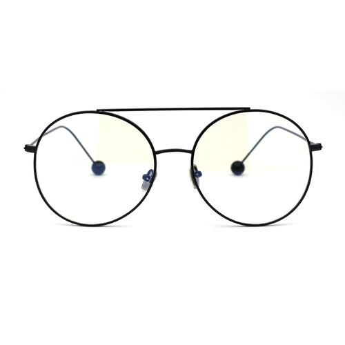 Womens Retro Round Metal Rim Fashion Eyeglasses