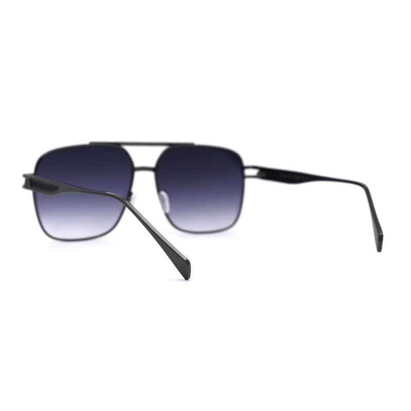 SA106 Luxury Rectangular Officer Style Mens Fashion Sunglasses