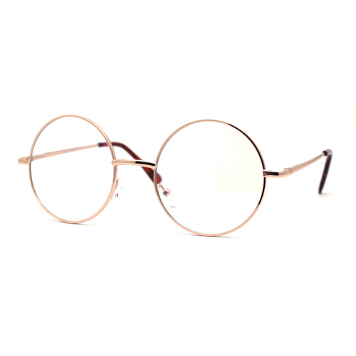 Classic Hippie Metal Rim Round Circle Lens Blue Light Flitering Computer Glasses