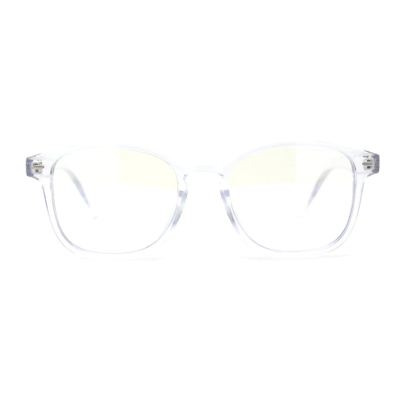Rectangular Horn Rim Keyhole Plastic Blue Light Flitering Computer Glasses