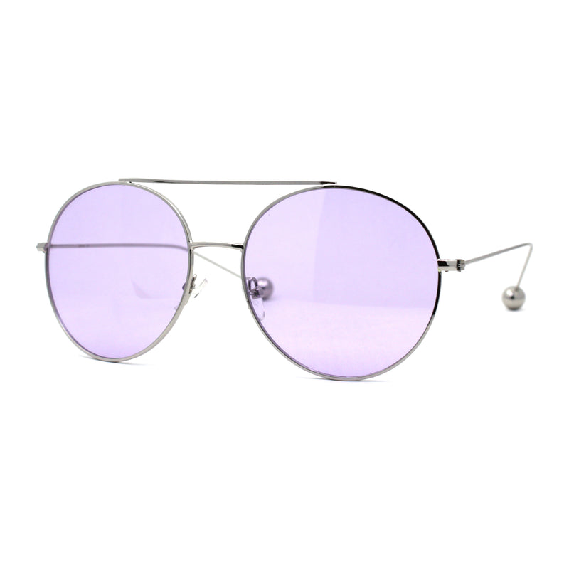 SA106 Round Double Bridge Metal Frame Airman Style Sunglasses