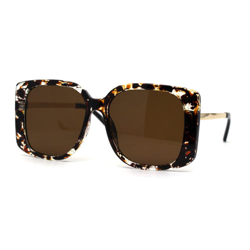 Womens Fashion Rectangle Mod Butterfly Chic Sunglasses