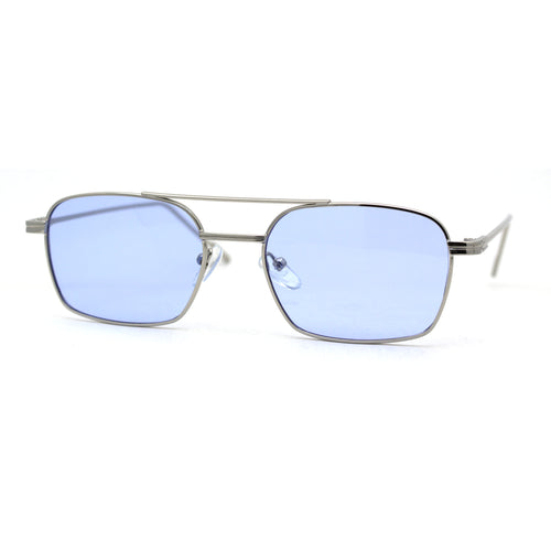 Mens Double Bridge Rectangle Metal Rim Pimp Shade