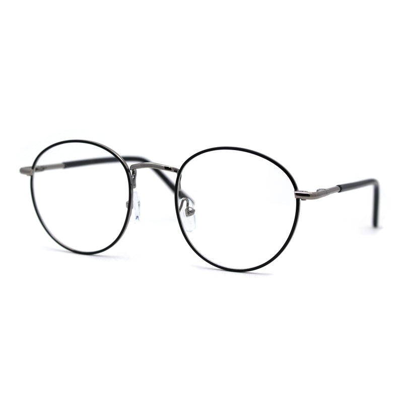 Optical Quality Round Spring Hinge Metal Rim Blue Light Flitering Computer Glasses