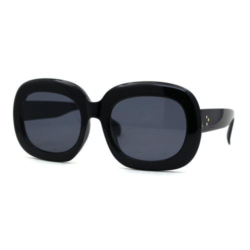 Womens Retro 1950s Mod Thick Rectangular Oval Sunglasses
