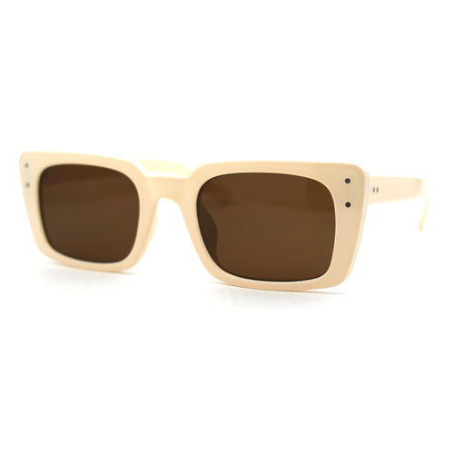 Womens Mod Rectangle Plastic Retro Sunglasses