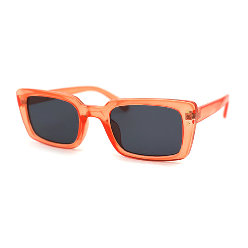 Womens Narrow Rectangular Dad Shade Hipster Sunglasses