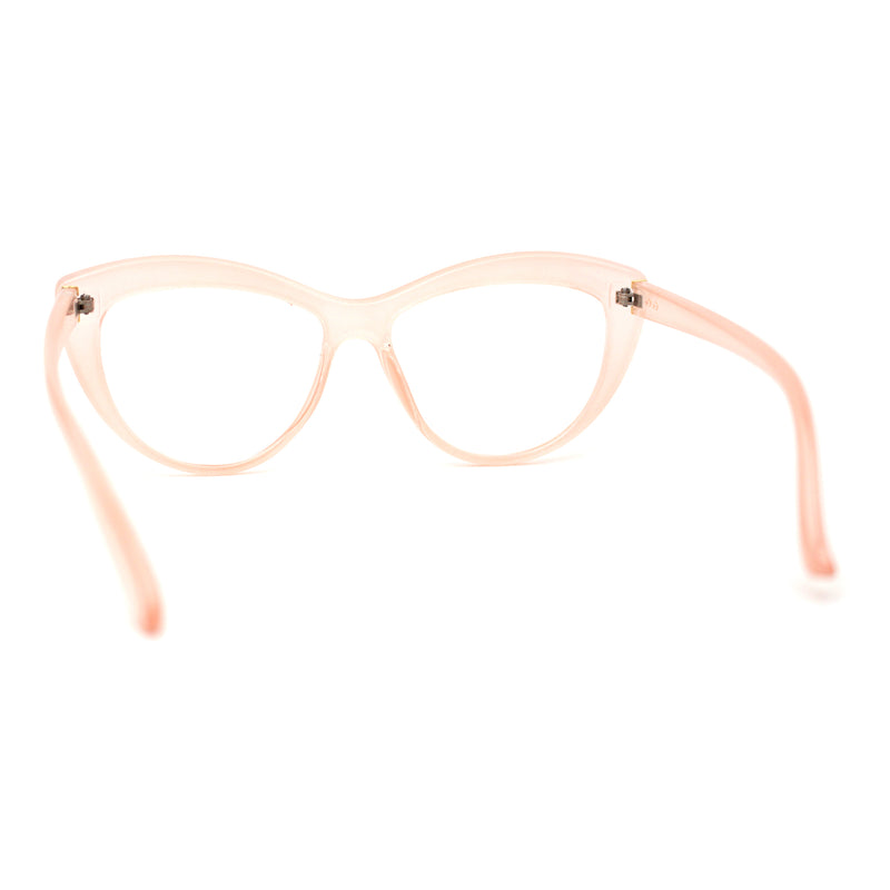 Womens Cat Eye 20s Mod Plastic Blue Light Filtering Computer Eyeglasses