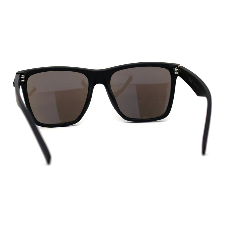 Locs Mirrored Mens Hipster Large Horn Rim Plastic Gangster Sunglasses