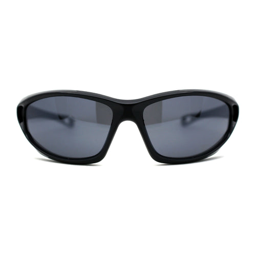 Xloop Classic 90s Oval Wrap Around Plastic Sport Sunglasses
