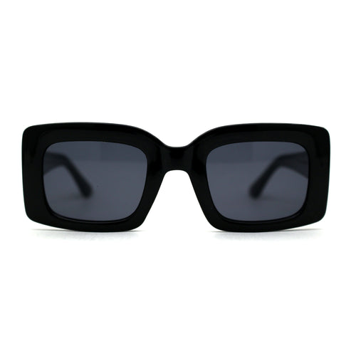 Womens Retro 90s Rectangular Square Sunglasses