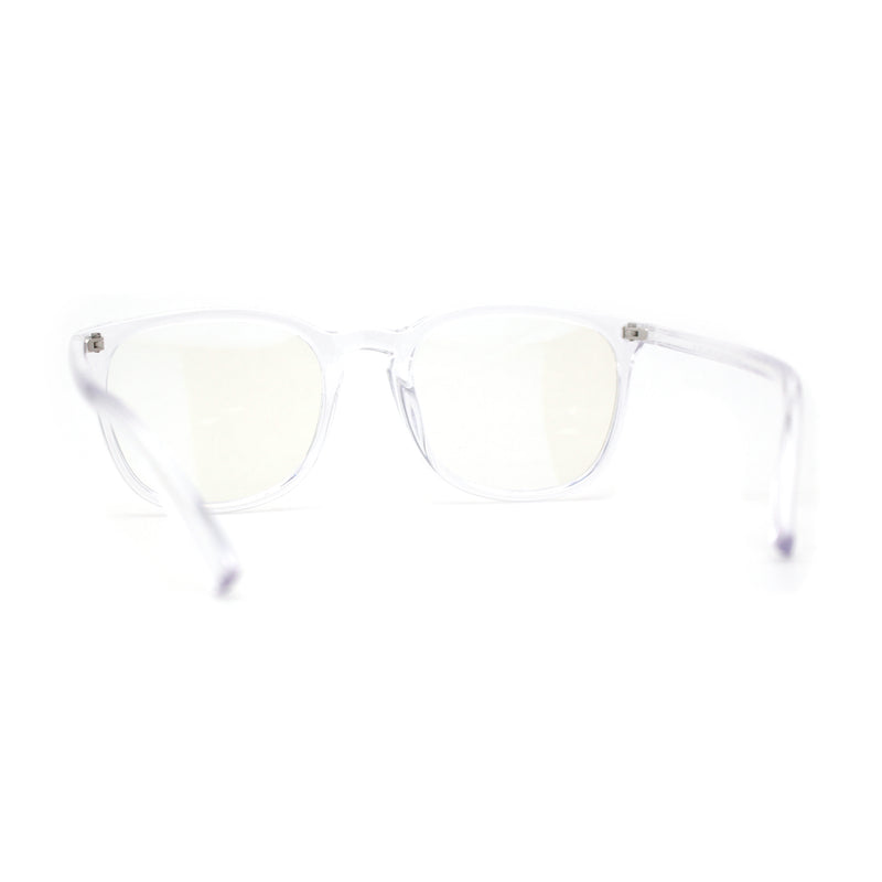 Hipster Rectangle Plastic Keyhole Blue Light Filtering Computer Glasses