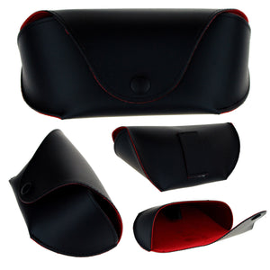 SA106 Mens Belt Holder Semi Hard Sunglasses Case Black