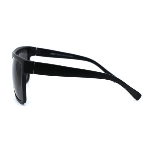 SA106 Limo All Black Flat Top Oversize Gangster Rectangular Shade Sunglasses