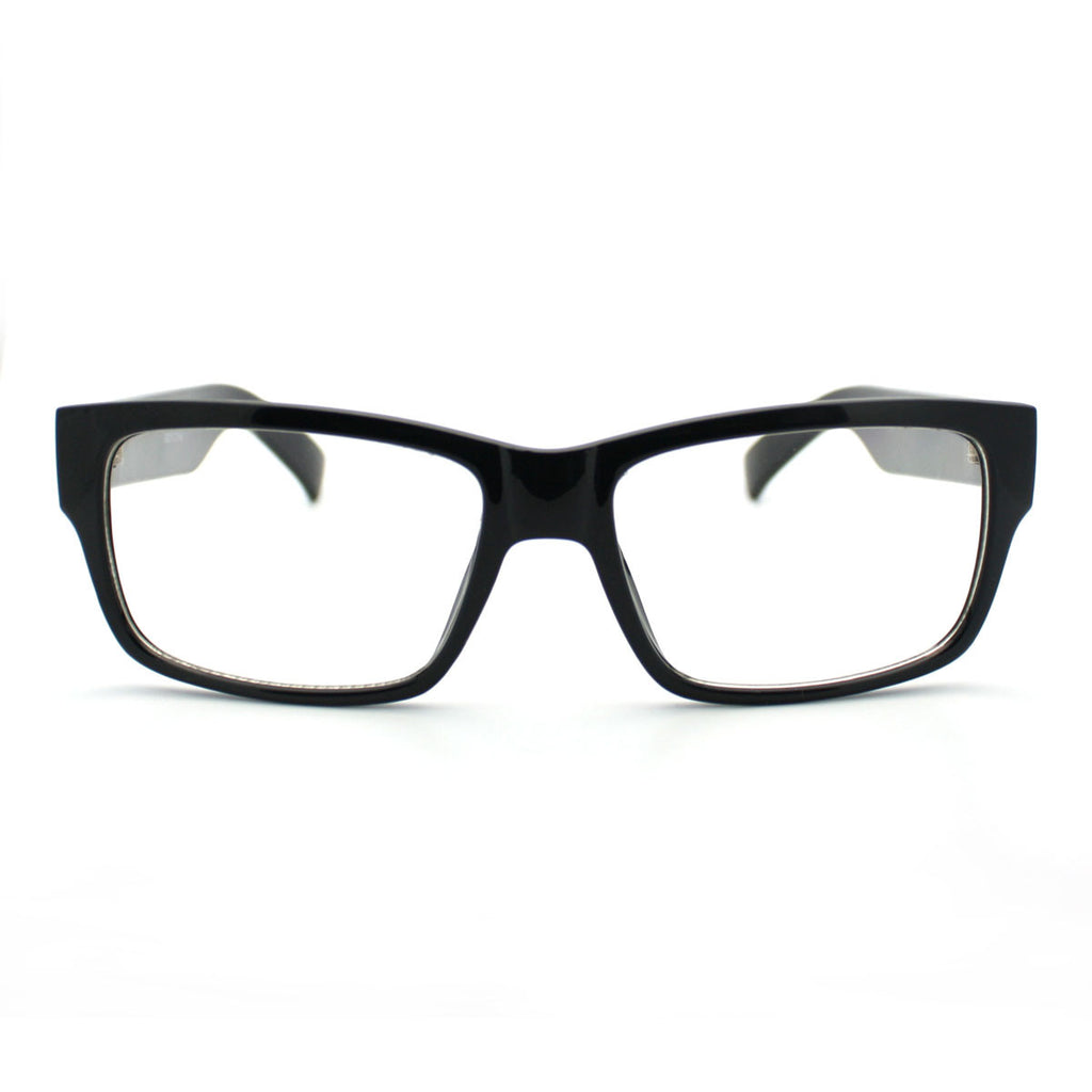 Black Simple and Clean Classic Plasitc Narrow Lens Optical Glasses ...