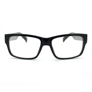Black Simple and Clean Classic Plasitc Narrow Lens Optical Glasses Frame