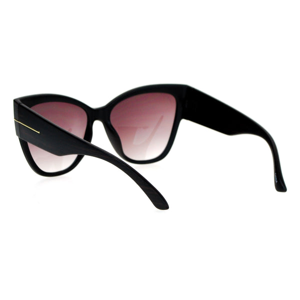 SA106 Womens Thick Plastic Arm Horn Rim Cat Eye Sunglasses