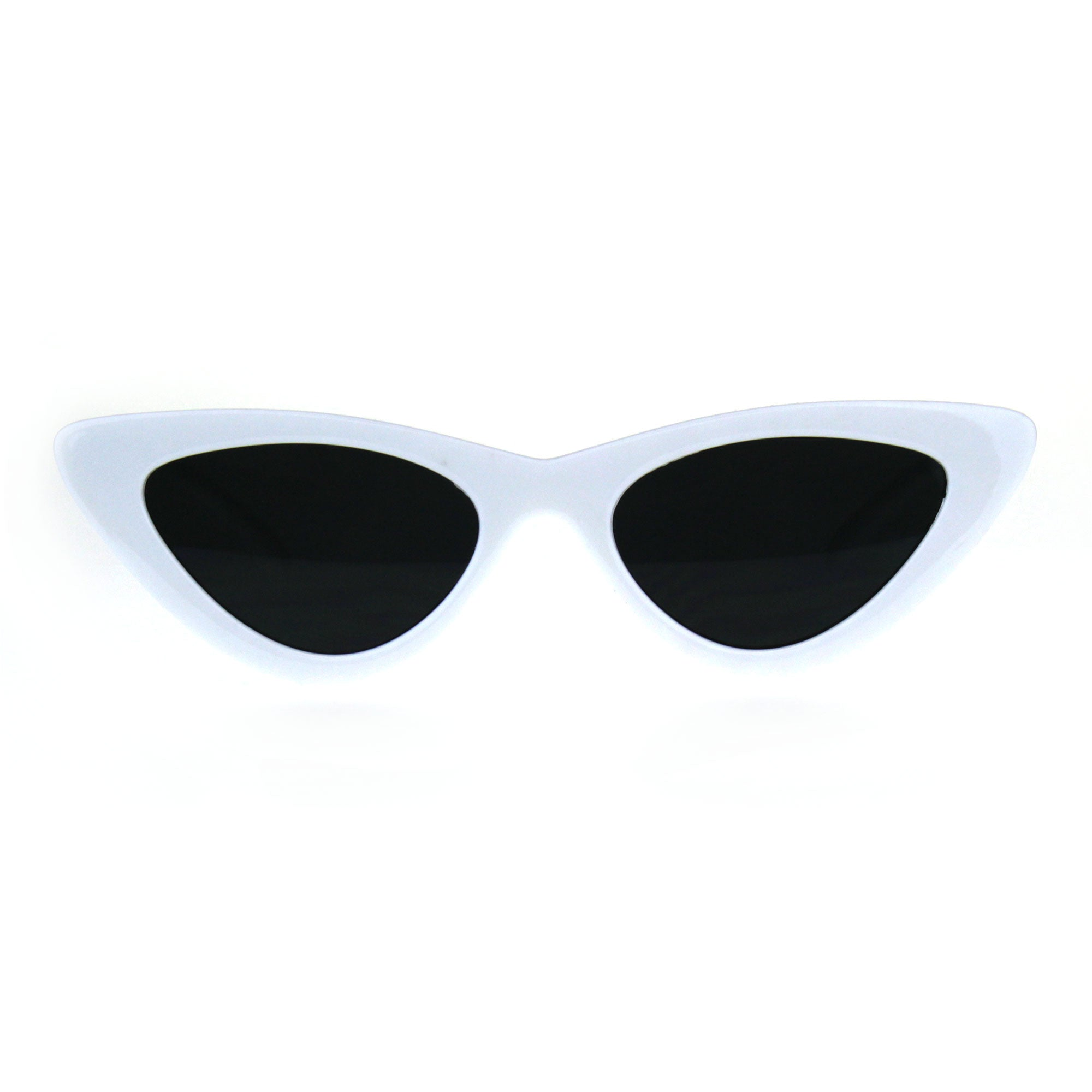 Womens Gothic Retro Cat Eye Plastic 20s Sunglasses