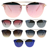 Round Rimless Half Rim Designer Mens Fashion Luxury Sunglasses