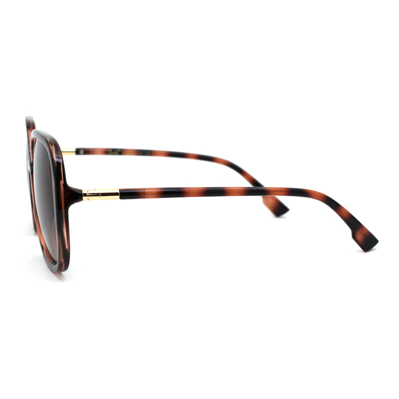 Womens Mod Rectangular Butterfly Oversized Sunglasses