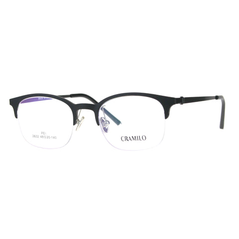 Optical Quality Narrow Half Horn Rim Rectangular Eyeglasses Frame