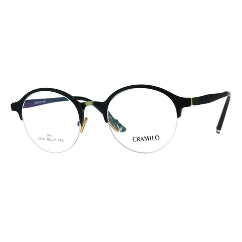 Optical Quality Round Half Horn Rim Luxury Circle Lens Eyeglasses Frame