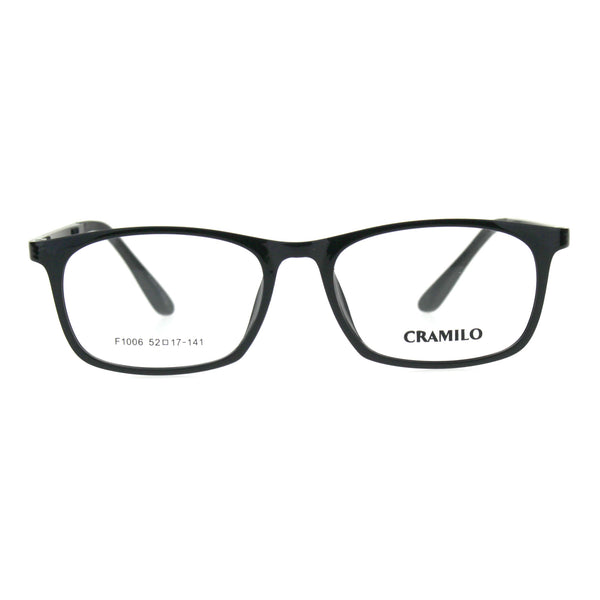 Optical Quality TR90 Rectangular Narrow Thin Plastic Mens Eyeglasses Frame