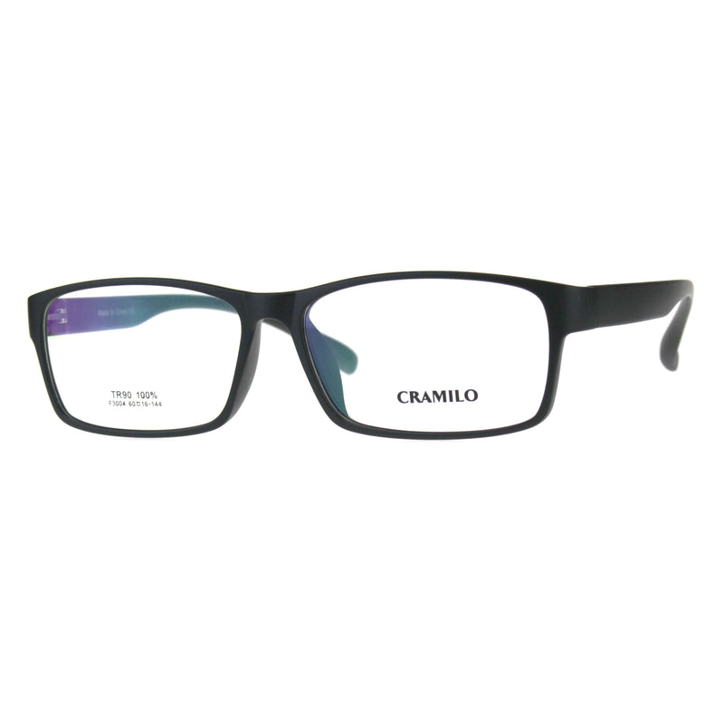 Optical Quality TR90 Extra Wide Narrow Rectangular Thin Plastic Glasses Frame