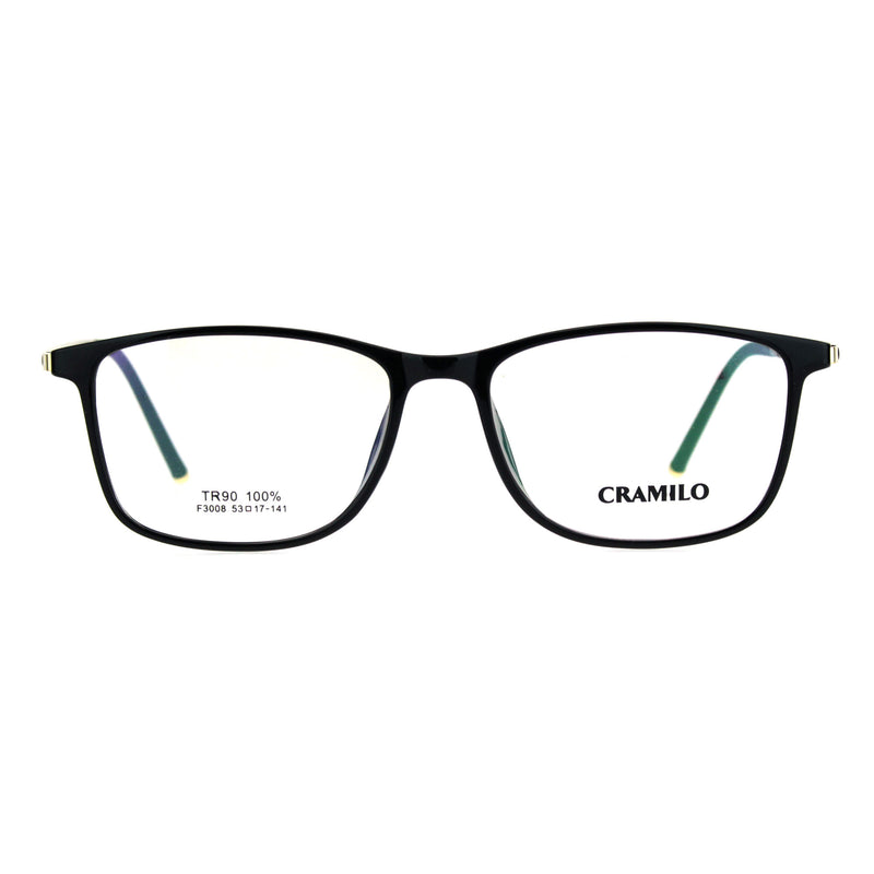 Mens 53mm TR90 Thin Plastic Horn Rim Optical Eyeglasses Frame