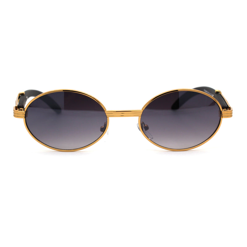 SA106 OG 90s Rapper Vintage Style Small Oval Metal Frame Sunglasses