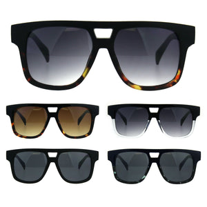 Mens Flat Top Horn Rim Mob Thick Plastic Sunglasses