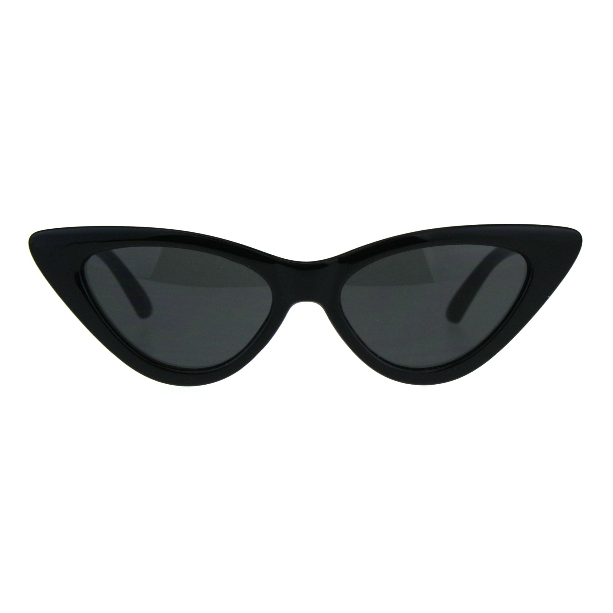 Womens Classic Narrow Cat Eye Gothic Plastic Sunglasses