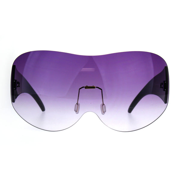 Extra Large Fighter Jet Mask Shield Sunglasses