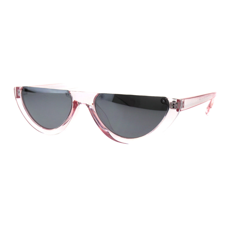 Womens Avant Garde Crop Flat Top Plastic Cat Eye Sunglasses
