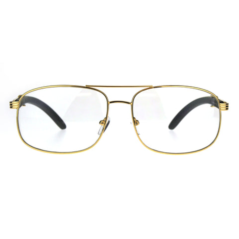 Mens Rectangular Art Nouveau Oversize OG Luxury Eye Glasses